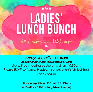 2018 FALL womens lunches - 2