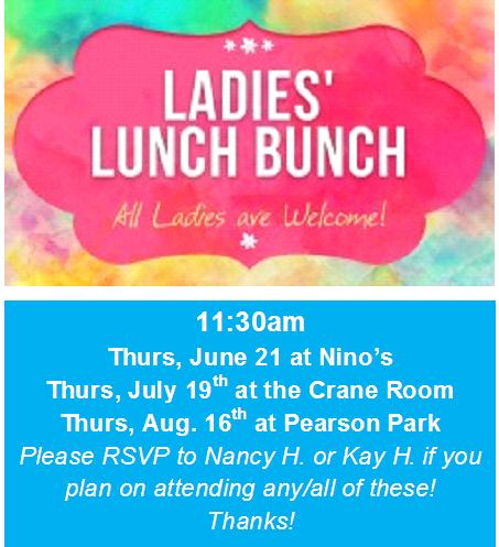 2018 ladies lunches